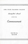 Spring Commencement [Program], May 20, 1950