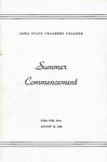 Summer Commencement [Program], August 18, 1949