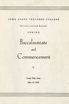 Spring Baccalaureate and Commencement, May 23, 1949