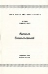 Summer Commencement [Program], August 19, 1948 by Iowa State Teachers College