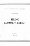 Spring Commencement [Program], May 25, 1948 by Iowa State Teachers College