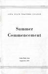 Summer Commencement [Program], August 21, 1947