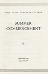 Summer Commencement [Program], August 22, 1946