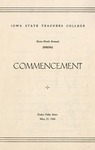 Spring Commencement [Program], May 25, 1946 by Iowa State Teachers College