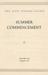 Summer Commencement [Program], August 23, 1945