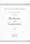 Spring Baccalaureate and Commencement, May 27, 1945