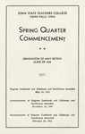 Spring Quarter Commencement [Program], May 23, 1943