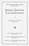 Spring Quarter Commencement [Program], May 31, 1942