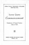 Summer Quarter Commencement [Program], August 21, 1941 by Iowa State Teachers College