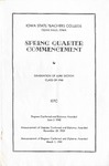 Spring Quarter Commencement [Program], June 3, 1940