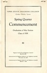 Spring Quarter Commencement [Program], May 29, 1939