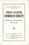 Spring Quarter Commencement [Program], May 30, 1938