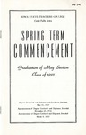 Spring Term Commencement [Program], May 31, 1937