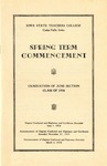 Spring Term Commencement [Program], June 1, 1936 by Iowa State Teachers College