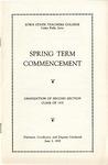 Spring Term Commencement [Program], June 3, 1935