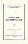Winter Term Commencement [Program], March 7, 1935 by Iowa State Teachers College