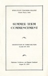 Summer Term Commencement [Program], August 23, 1934