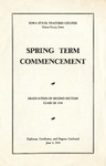 Spring Term Commencement [Program], June 4, 1934 by Iowa State Teachers College
