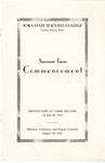 Summer Term Commencement [Program], August 18, 1932