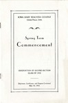 Spring Term Commencement [Program], May 30, 1932 by Iowa State Teachers College