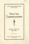 Winter Term Commencement [Program], March 3, 1932 by Iowa State Teachers College