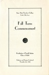 Fall Term Commencement [Program], November 24, 1931