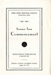 Summer Term Commencement [Program], August 20, 1931 by Iowa State Teachers College