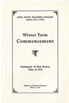 Winter Term Commencement [Program], March 5, 1931