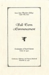 Fall Term Commencement [Program], November 25, 1930 by Iowa State Teachers College