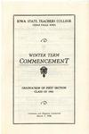 Winter Term Commencement [Program], March 7, 1930