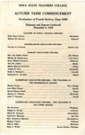 Autumn Term Commencement [Program], December 4, 1928