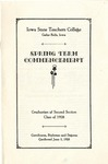 Spring Term Commencement [Program], June 5, 1928 by Iowa State Teachers College