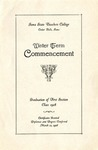 Winter Term Commencement [Program], March 12, 1928 by Iowa State Teachers College