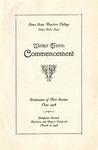 Winter Term Commencement [Program], March 12, 1928