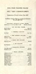 Fall Term Commencement [Program], December 5, 1927 by Iowa State Teachers College
