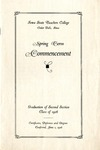 Spring Term Commencement [Program], June 1, 1926