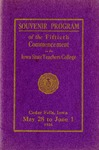 Souvenir Program of the Fiftieth Commencement of the Iowa State Teachers College, May 28 - June 1, 1926