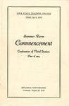 Summer Term Commencement [Program], August 20, 1925