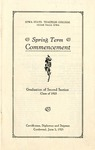 Spring Term Commencement [Program], June 2, 1925