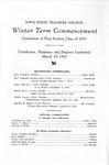 Winter Term Commencement [Program], March 10, 1925
