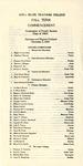 Fall Term Commencement [Program], December 2, 1924