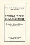 Spring Term Commencement [Program], June 3, 1924