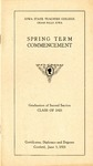Spring Term Commencement [Program], June 5, 1923