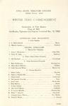 Winter Term Commencement [Program], March 13, 1923