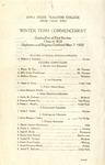Winter Term Commencement [Program], March 7, 1922
