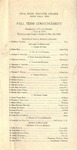Fall Term Commencement [Program], November 29, 1921