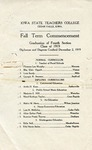 Summer Term Commencement [Program], August 21, 1919