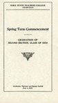 Spring Term Commencement [Program], June 3, 1919