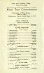Winter Term Commencement [Program], March 11, 1919