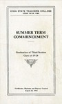Summer Term Commencement [Program], August 22, 1918